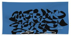 Timpani In Blue Hand Towel by David Bridburg