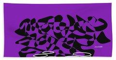 Timpani In Purple Bath Towel by David Bridburg
