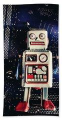 Tin Toy Robots Hand Towel