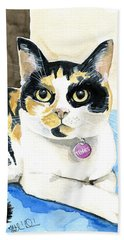 Tinks The Minx - Calico Cat Portrait Bath Towel