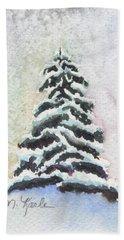 Tiny Snowy Tree Hand Towel