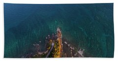 Bath Towel featuring the photograph Tip Of Borneo View Point From Above, Malaysia by Pradeep Raja PRINTS