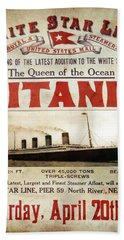 Titanic - Pride Of White Star Line  1912 Hand Towel