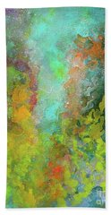 Title. Allegro Abyss. Abstract Acrylic Painting. Bath Towel