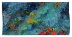 Title. Galactic Adagio Acrylic Painting. Bath Towel