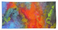 Title. Symphonata. An Acrylic Painting Bath Towel