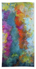 Title. Symphonic Nebula. Abstract Painting. Bath Towel