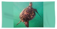 Tito The Turtle Hand Towel by Erika Swartzkopf
