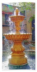 Tlaquepaque Fountain In Sunlight Hand Towel