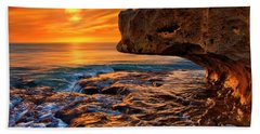 To God Be The Glory - Sunrise Over Ocean Reef Park On Singer Island Florida Hand Towel