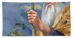 To Hold The World In The Palm Of Your Hand Bath Towel by J W Baker