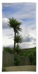 Hand Towel featuring the photograph To Kouka Cabbage Tree by Nareeta Martin