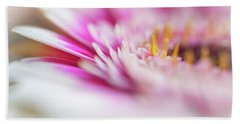 Bath Towel featuring the photograph To Live In Dream 1. Macro Gerbera by Jenny Rainbow