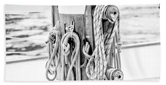 Hand Towel featuring the photograph To Sail Or Knot by Greg Fortier