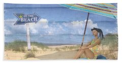 To The Beach Hand Towel by Nina Bradica