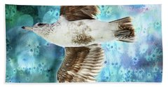 To The Beach Hand Towel by Peggy Collins