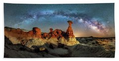 Toadstool Milky Way Pano Bath Towel