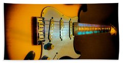 Tobacco Burst Stratocaster Glow Neck Series Hand Towel