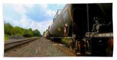 Tobyhanna Freight Train Bath Towel