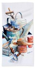 Todays Toil Tomorrows Pleasure II Hand Towel by Hanne Lore Koehler