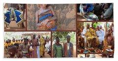Togo Village In West Africa Collage Bath Towel