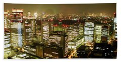 Tokyo Skyline Photographs Hand Towels