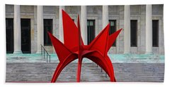 Toledo Museum Of Art With Alexander Calder 1973 'stegosaurus' II Bath Towel