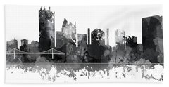 Toledo Ohio Skyline Bath Towel