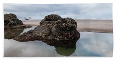 Tolovana Beach At Low Tide Bath Towel
