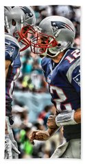 Tom Brady Art 4 Hand Towel by Joe Hamilton
