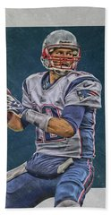 Tom Brady New England Patriots Art Hand Towel