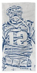 Tom Brady New England Patriots Pixel Art 1 Hand Towel
