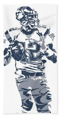 Tom Brady New England Patriots Pixel Art 10 Hand Towel