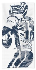 Tom Brady New England Patriots Pixel Art 11 Hand Towel