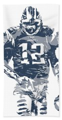 Tom Brady New England Patriots Pixel Art 12 Hand Towel