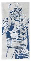 Tom Brady New England Patriots Pixel Art 3 Hand Towel