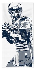 Tom Brady New England Patriots Pixel Art 35 Hand Towel