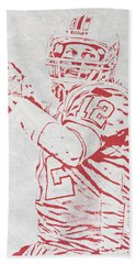 Tom Brady New England Patriots Pixel Art 4 Hand Towel