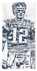 Tom Brady New England Patriots Pixel Art 40 Hand Towel