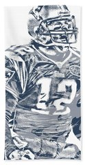 Tom Brady New England Patriots Pixel Art 41 Hand Towel