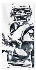 Tom Brady New England Patriots Pixel Art 7 Hand Towel