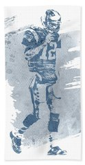 Tom Brady New England Patriots Water Color Art 4 Hand Towel