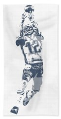 Tom Brady The Drop New England Patriots Pixel Art Hand Towel