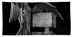Bath Towel featuring the mixed media Tomas Riddle Tomb Harry Potter by Gina Dsgn