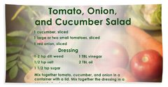 Tomato Onion Cucumber Salad Recipe Hand Towel