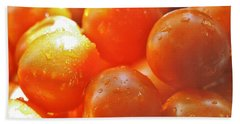 Hand Towel featuring the photograph Tomato Tears by Barbara S Nickerson