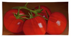 Tomatoes 01 Hand Towel by Wally Hampton