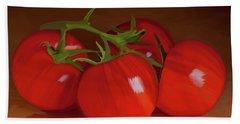 Tomatoes 01 Bath Towel by Wally Hampton