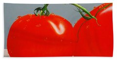 Tomatoes With Stems Hand Towel