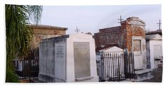 Tombs In St. Louis Cemetery Bath Towel by Alys Caviness-Gober